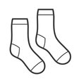 Pair of White Socks Icon vector image