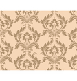 Classic floral ornamented pattern background vector image