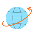 worldwide shipping flat icon logistic vector image