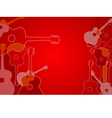 Abstract acoustic guitar background vector image vector image