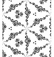 abstract seamless pattern with waves and circles vector image vector image