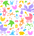 baitems pattern vector image vector image