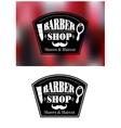 Barber Shop signs vector image vector image