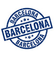 barcelona blue round grunge stamp vector image vector image