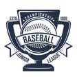 baseball badge championship vector image vector image
