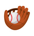 baseball ball isolated icon vector image vector image
