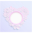 beautiful wreath of spring flowers pink daisies vector image vector image