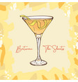 between sheets low-alcohol light rum and vector image vector image