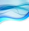 Blue abstract swoosh line border wave folder vector image vector image