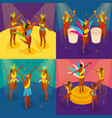 brazilian carnival concept icons set vector image vector image