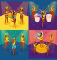 brazilian carnival concept icons set vector image