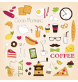Breakfast set icons vector image vector image