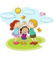 Children playing game in the park vector image vector image