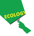 cleaning for ecology vector image vector image