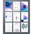 Computer Technology Templates flyer vector image