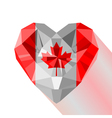 crystal gem jewelry Canadian heart with the flag vector image