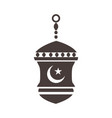 decorative lantern ornament ramadan arabic islamic vector image
