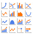 diagrams and graphs icons set vector image vector image