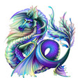 dragon multi-colored water dragon vector image