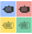 electric motor icon set vector image vector image
