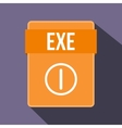 EXE file icon flat style vector image vector image