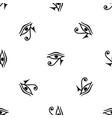 eye of horus egypt deity pattern seamless black vector image vector image
