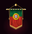 flag of portugal festive vertical banner wall vector image vector image
