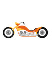 flat style custom motorcycle vector image