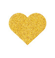 gold glitter heart shape isolated golden love vector image