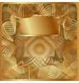 gold vintage background frame vector image vector image