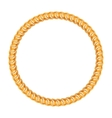golden chain - round frame on white background vector image vector image