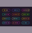 gradient action buttons flat web submit form vector image