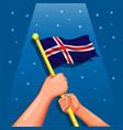 iceland flag celebration independence day vector image vector image