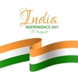 India independence day greeting card vector image vector image