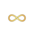 Infinity computer symbol vector image vector image