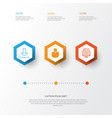 internet icons set collection of blog page vector image