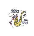 jazz doodle vector image