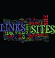 links exchange a hazardous business text vector image vector image