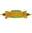 Nebraska The Cornhusker State vector image vector image