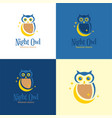 night owl logo and icon vector image