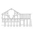 pennsylvanian barn frame works timber vintage vector image vector image