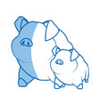pig character farm animal domestic image vector image