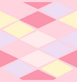 pink abstract geometric seamless pattern vector image vector image