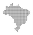 pixel map of brazil dotted map of brazil isolated vector image