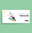 santa claus tropical summer time vacation landing vector image vector image