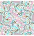 Seamless hand-drawn pattern with abstract leaves vector image vector image