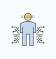 sensor body data human science flat icon green vector image