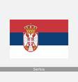 serbia serbian national country flag banner icon vector image vector image