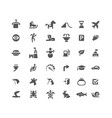 set icons road and animals carousel skates vector image