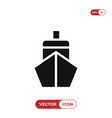 ship front icon vector image vector image